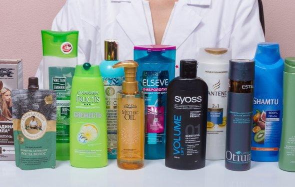 Шампуни для волос в тестах